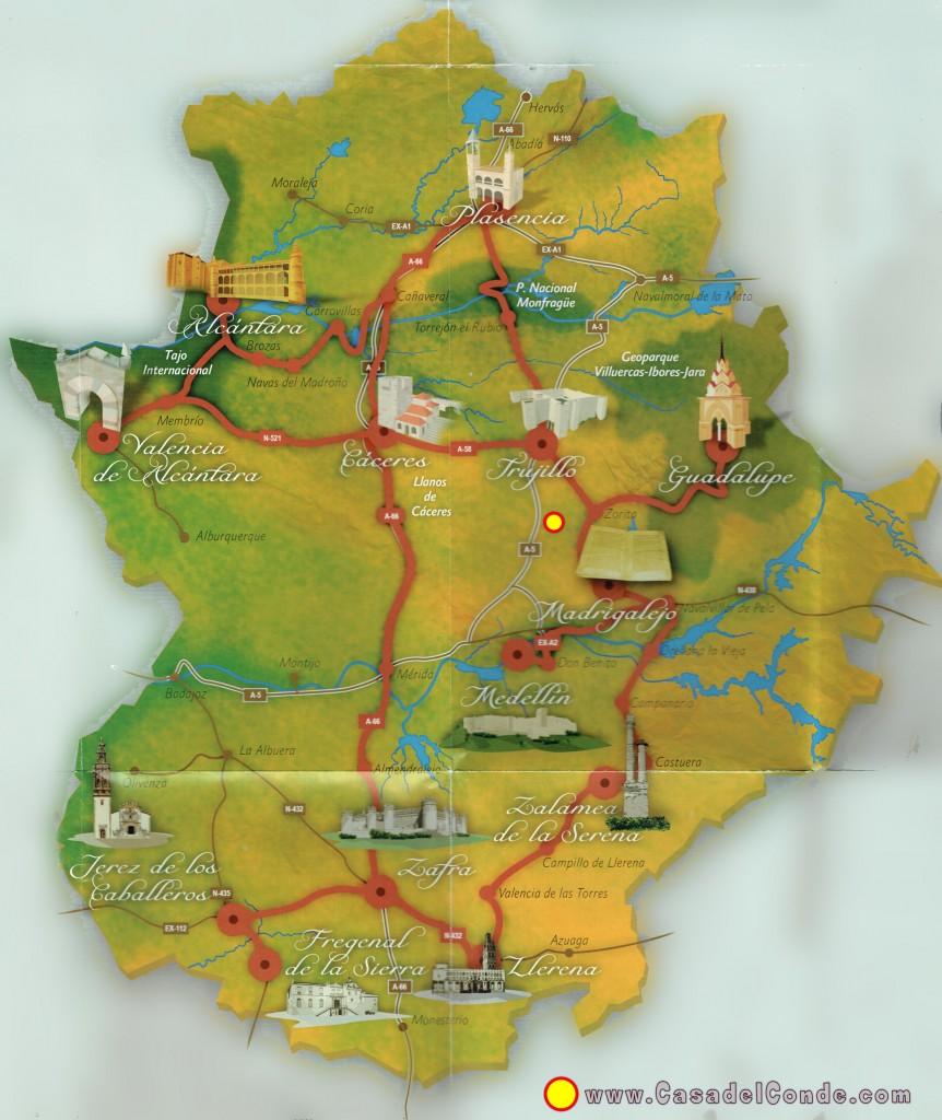 Ruta de Isabel la Catolica por Extremadura